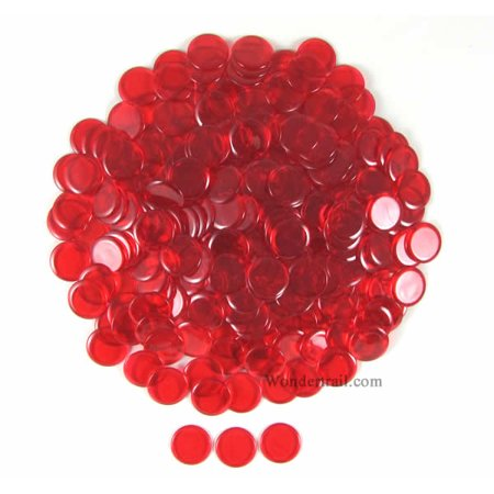 Red Extra Thick Plastic Sorting Chips 19MM (3/4in) Pack of 250 Koplow Games