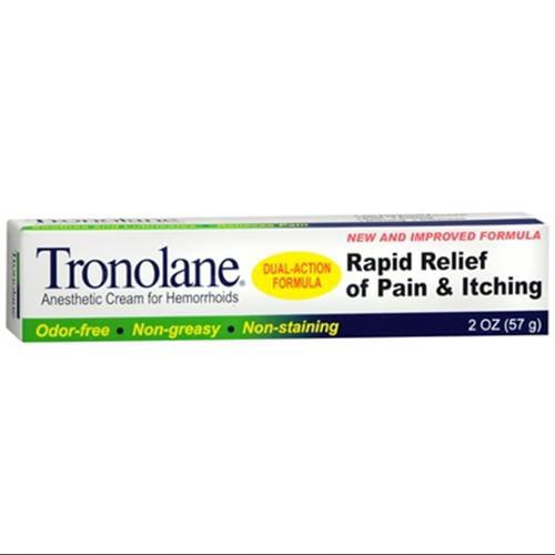 Tronolane Anesthetic Cream for Hemorrhoids 2 oz (Pack of 3)