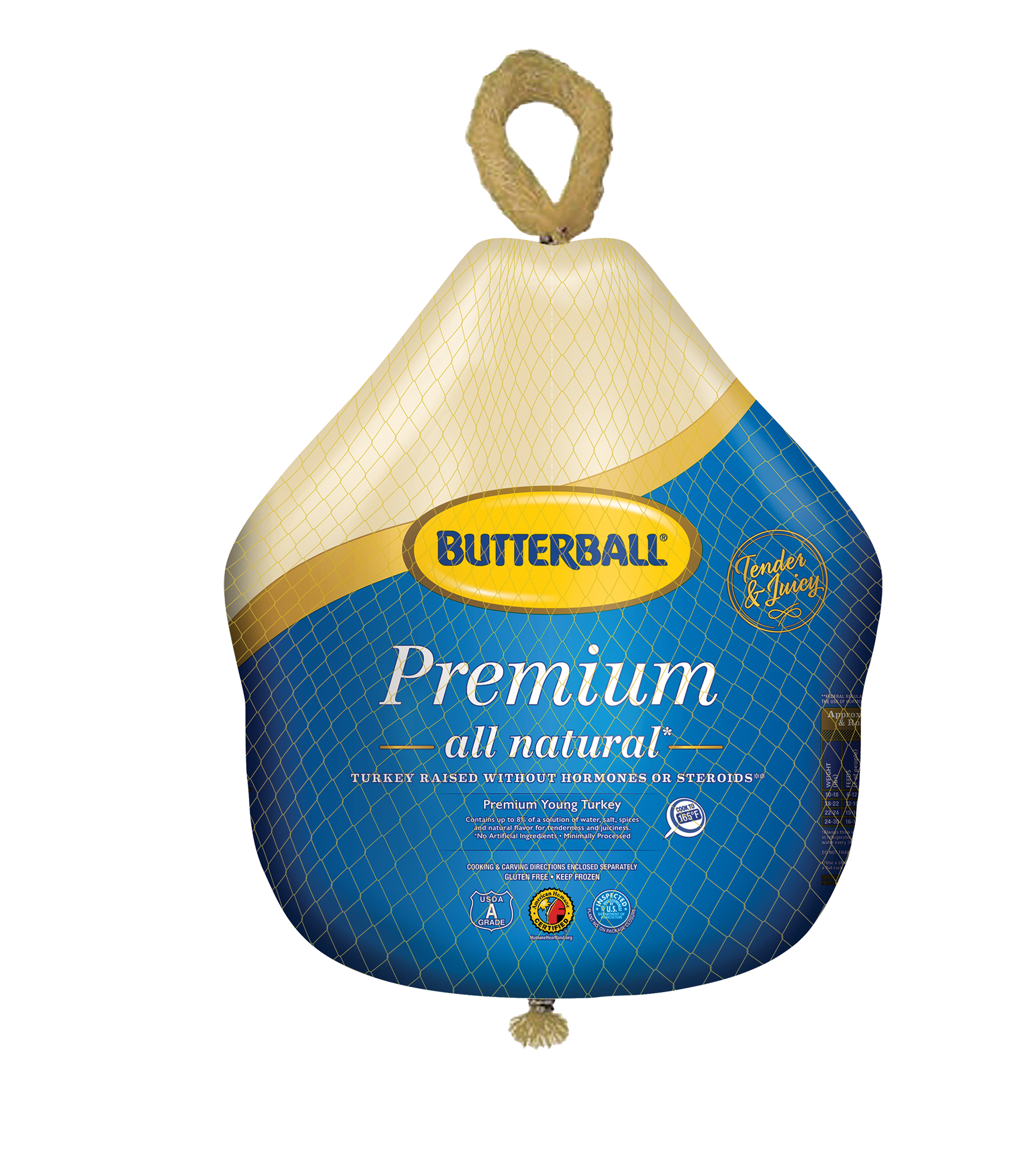 Butterball® Frozen All Natural Premium Young Turkey, 10.0-16.0 lb