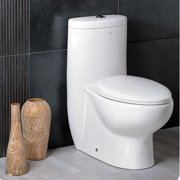 Fresca Delphinus Dual Flush Elongated One-Piece Toilet
