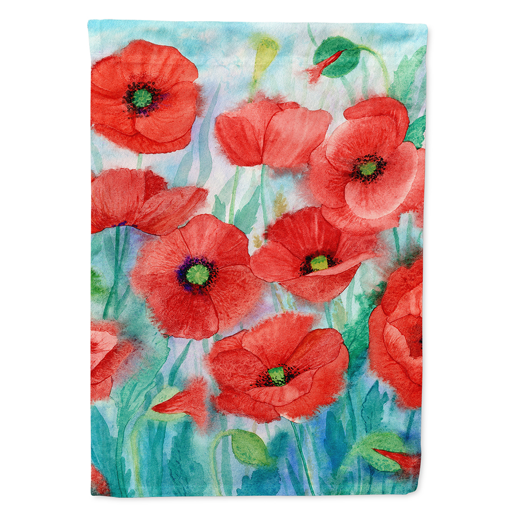 Poppies Flag Canvas House Size