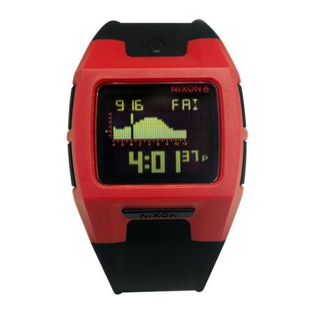 Nixon A289209 Lodown Ii Red Black Digital Silicone Watch