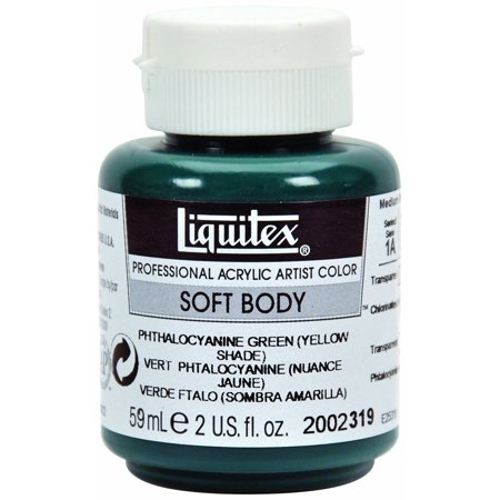 Liquitex Soft Body Professional Acrylic Color - 2 oz. Jar - Pthalo Green (Yellow