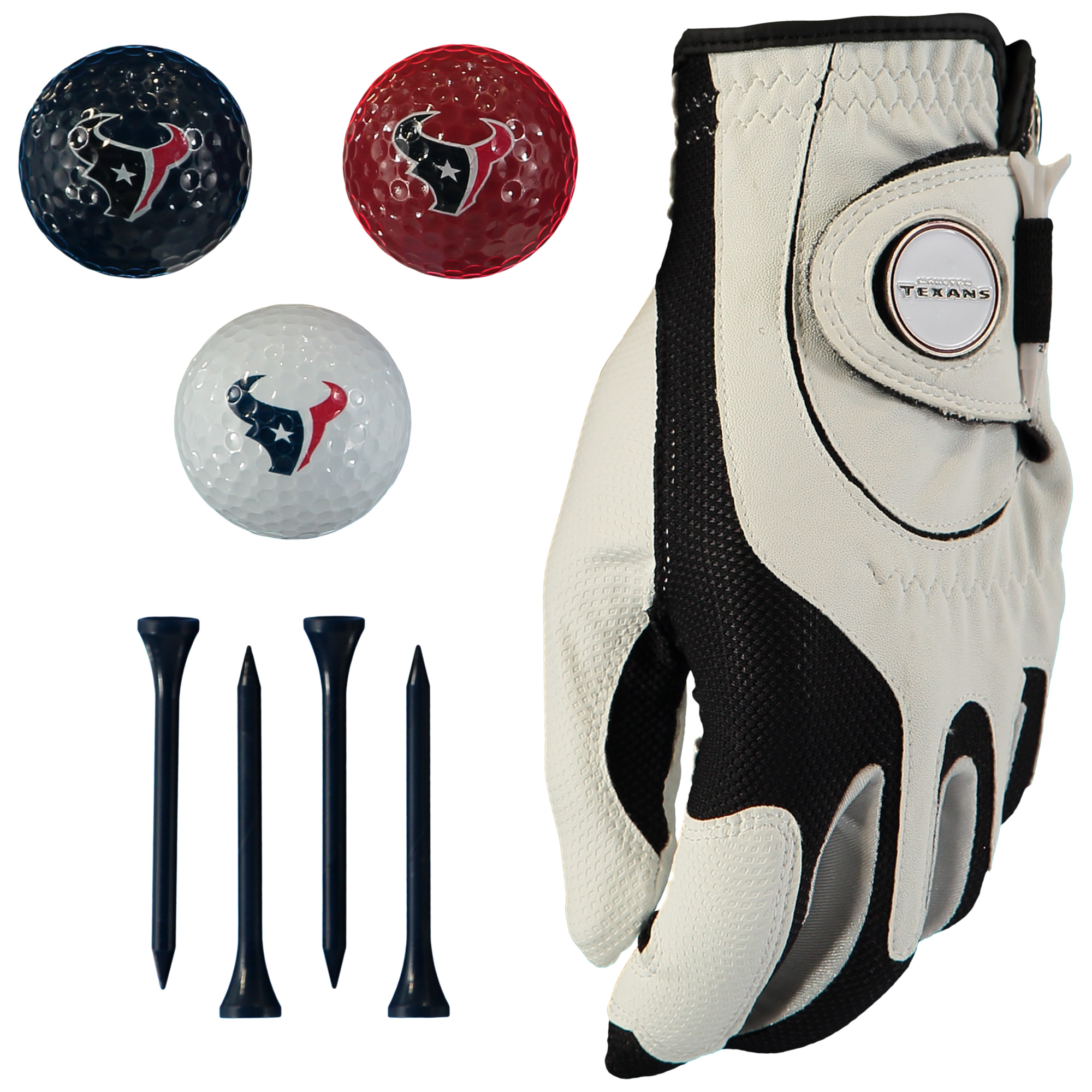 Houston Texans Golf Balls, Tees & Glove Set - No Size