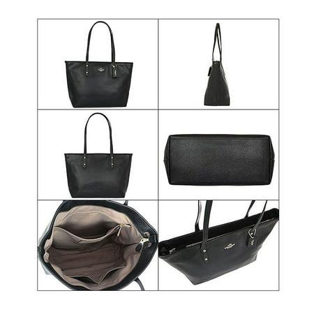 Coach City Zip Tote Bag Purse in Crossgrain Leather in Midnight Zip Leather Satchel