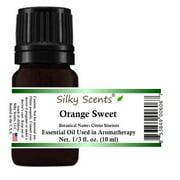 Silky Scents Orange Sweet Essential Oil 100% Pure, Undiluted - 1/3 fl. oz. (10 ml)
