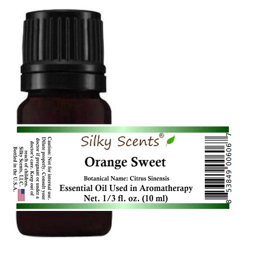 Silky Scents Orange Sweet Essential Oil 100% Pure, Undiluted - 1/3 fl. oz. (10 ml)
