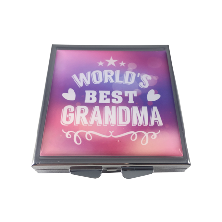 World's Best Grandma Four Section Slim Pocket Purse Travel Pill Box