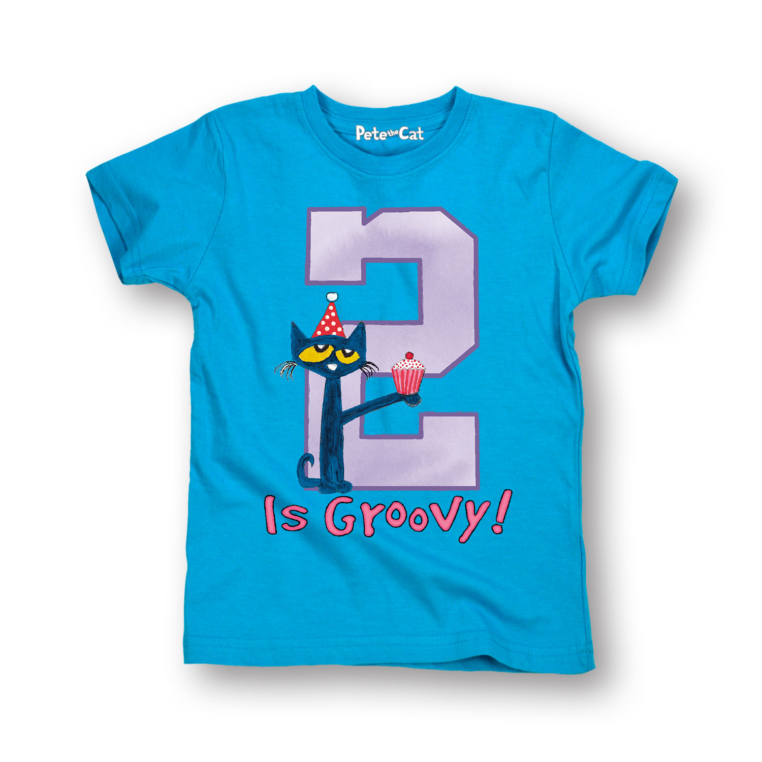 Pete The Cat 2Nd Birthday Girls - Toddler Short Sleeve Tee