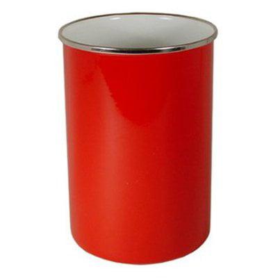 Reston Lloyd Enamel Utensil Jar - Burlap Utensil Holder