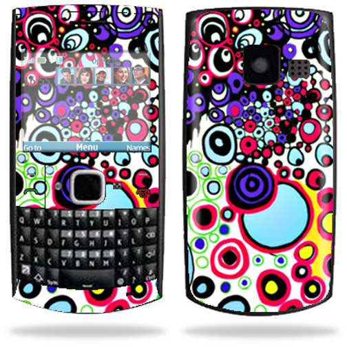 Mightyskins Protective Skin Decal Cover for Nokia X2 X2-01 Cell Phone Sticker Circle Explosion
