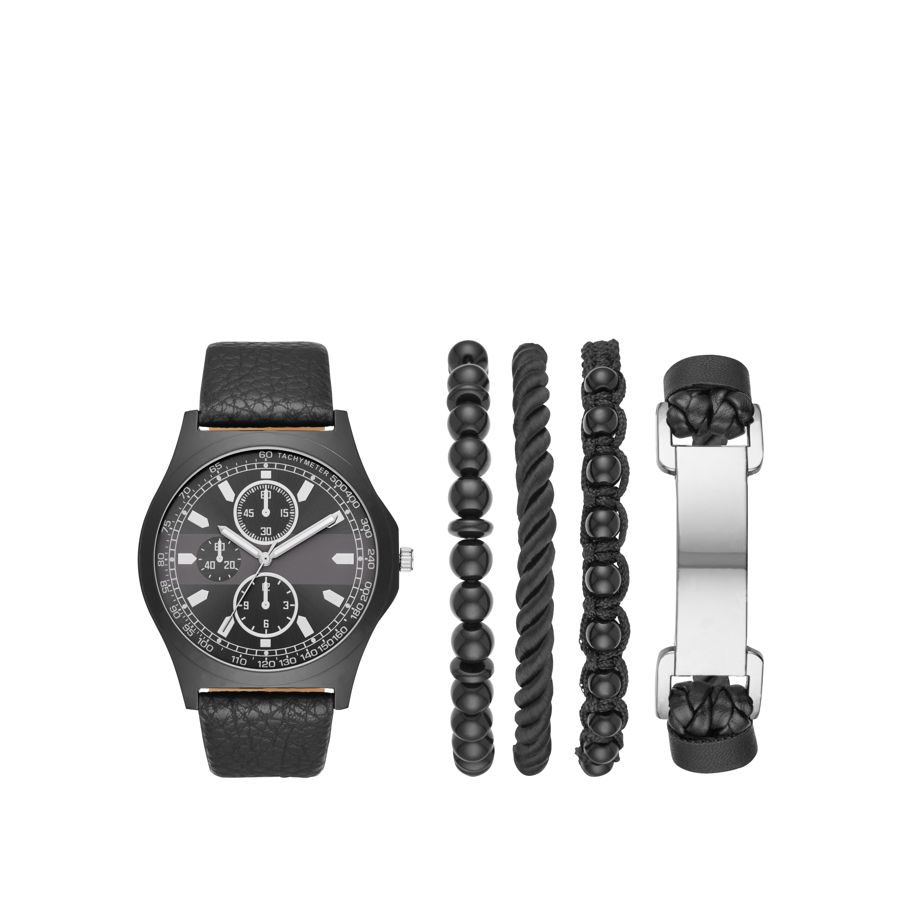 Men's Watch Gift Set with Bracelets