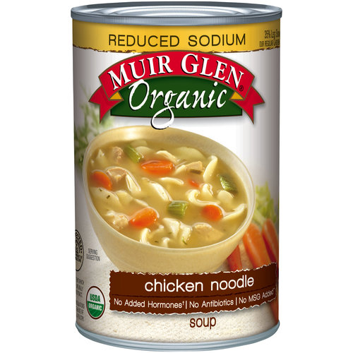 Muir Glen Organic Chicken Noodle Reduced Sodium Soup, 14.5 oz