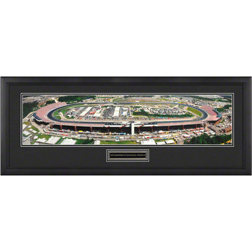 New Hamphshire International Speedway Framed Panoramic with Engraved Plate