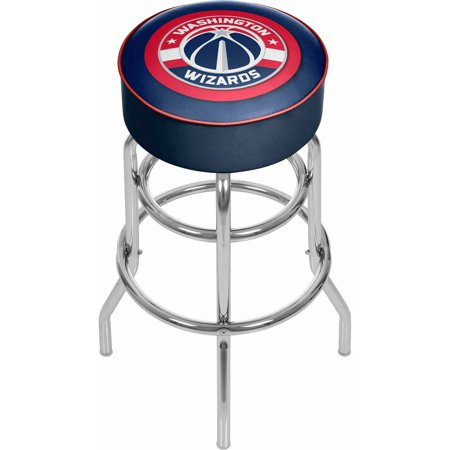 "Trademark Global NBA Washington Wizards 31"" Padded Swivel Bar Stool by"