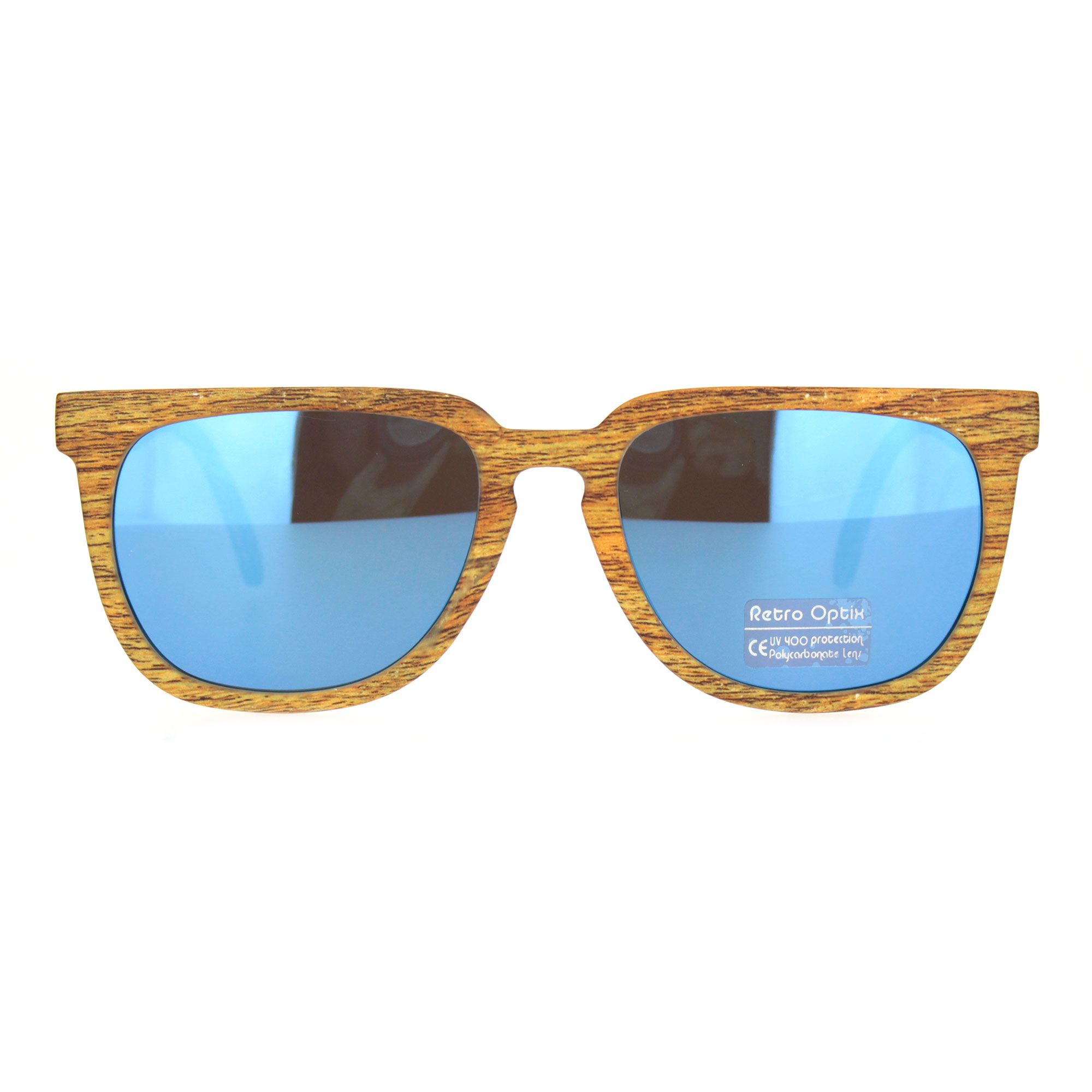 Mens Rectangular Sport Keyhole Classic 90s Sunglasses