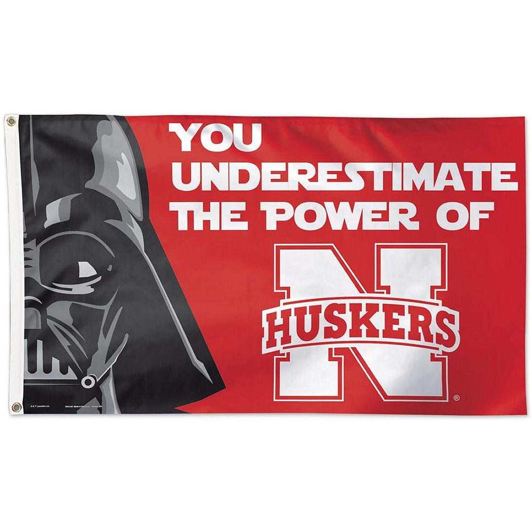 Nebraska Cornhuskers Star Wars 3'x5' Flag - You Underestimat