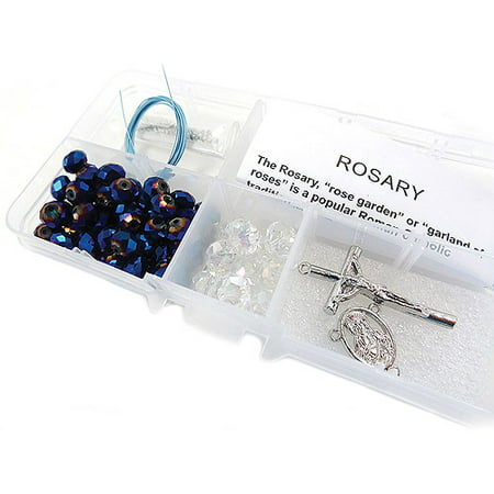 Crystal and Pearl Rosary Bead Kit, Makes -