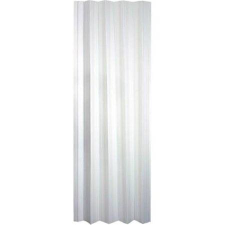 Folding Closet Door, White Mist Vinyl, 32-36 x 80-In.