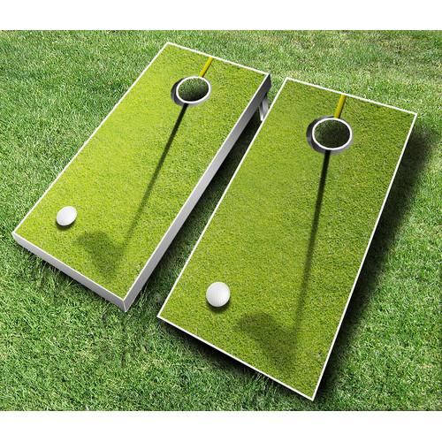 AJJ Cornhole 10 Piece Golf Cornhole Set by