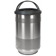Witt Stadium Series Perforated Metal 55 Gallon Trash Can
