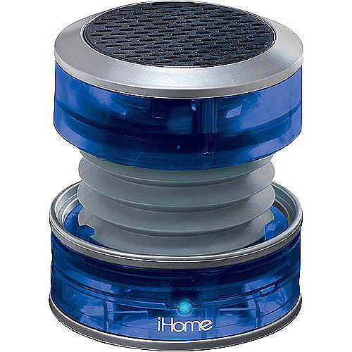 iHome Crystal Tunes Mini Speaker IHM60LT,  in three translucent colors