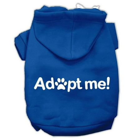 adopt me screen print pet hoodies blue size xxl 18