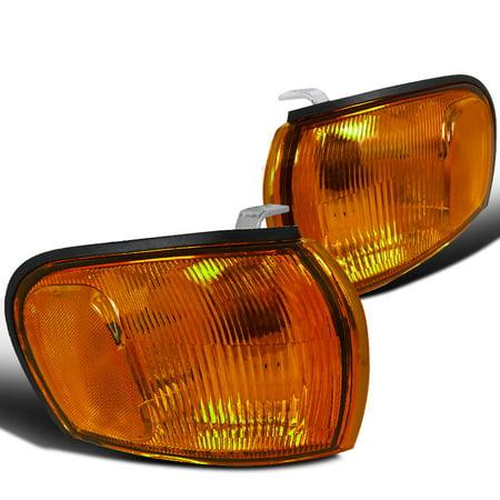 Jdm Corner Lights - Spec-D Tuning For 1995-2001 Subaru Impreza Jdm Corner Bumper Lamps Turn Lights Chrome Amber Lens 1995 1996 1997 1998 1999 2000 2001 (Left+Right)
