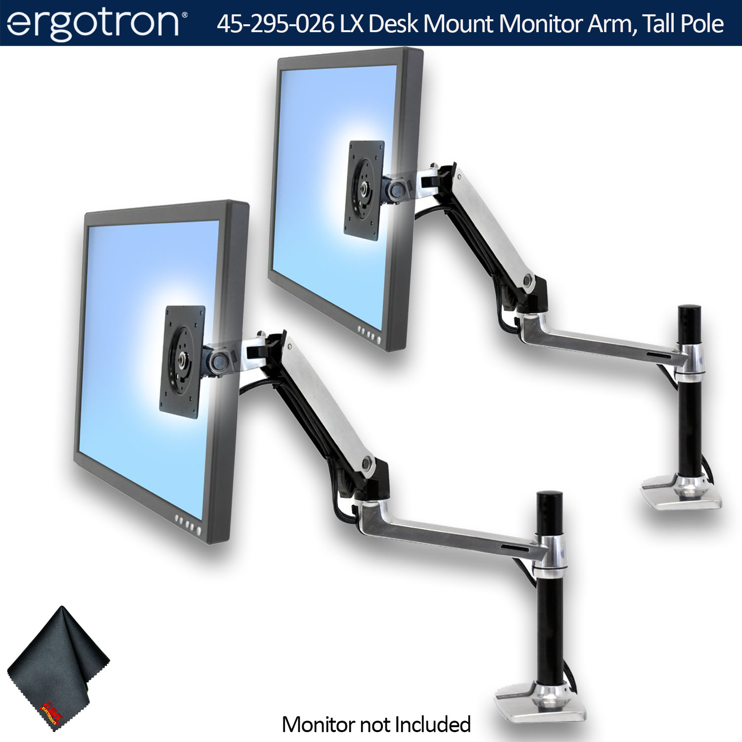 Ergotron LX Desk Mount LCD Arm. 2   Pack With Essential Accessories