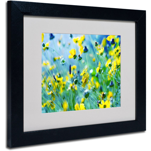 "Trademark Fine Art ""Flower Power"" Framed Canvas Art by Beata Czyzowska Young"
