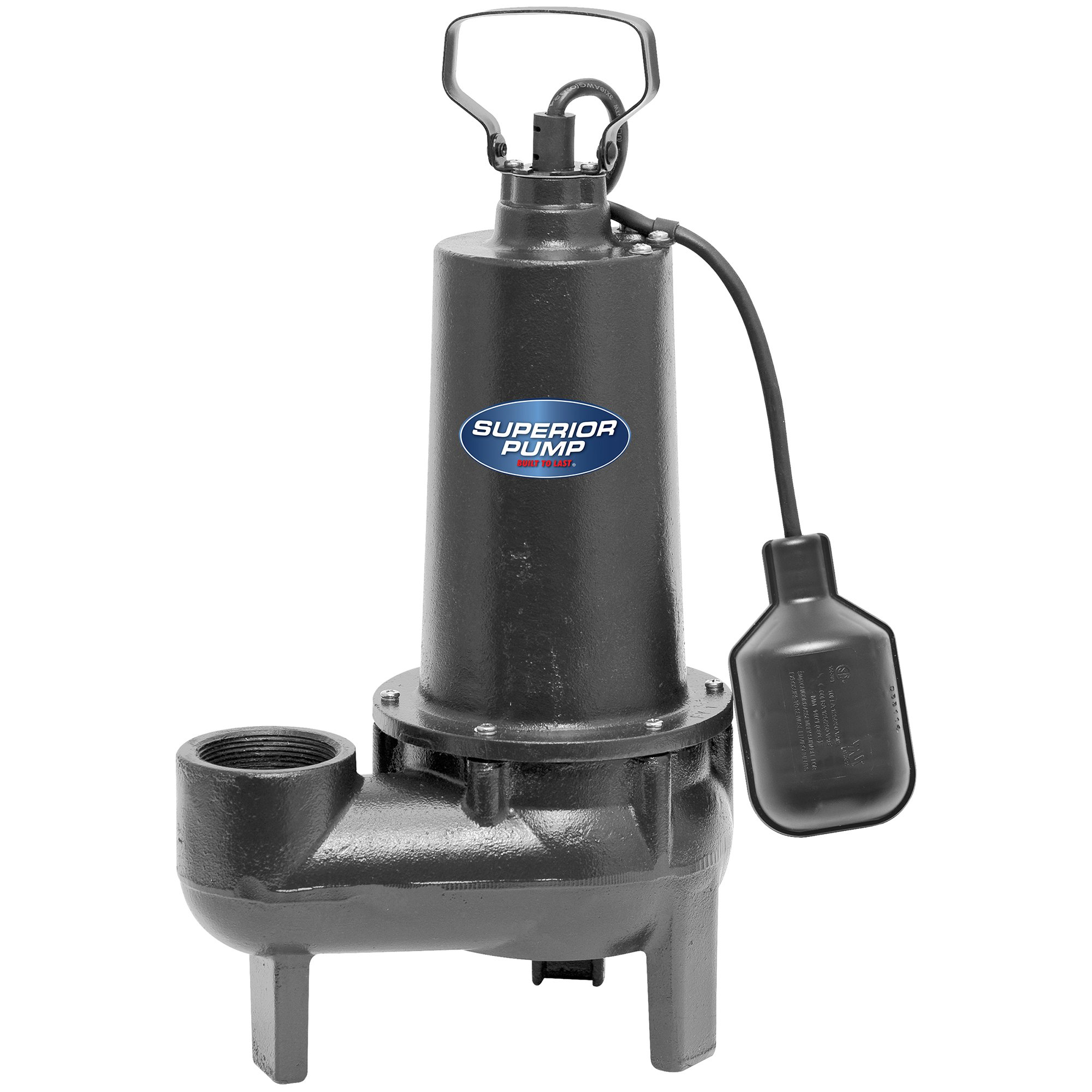 Superior Pump 92501 1/2 HP 2 Inch Discharge Non Clogging Cast Iron Sewage Pump