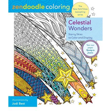 Zendoodle Coloring: Celestial Wonders : Starry Skies to Color and