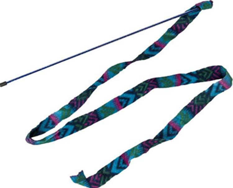 Cat Prancer Fleece Frenzy Wand Cat Toy by Ethical Products