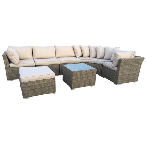 Oakland Living Borneo 7 Piece Sectional Set with Cushions by Oakland Living Corporation
