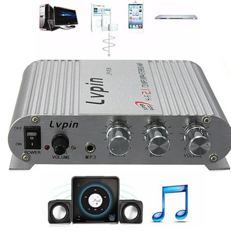 12V-18V 200W Home Mini Audio Amplifier - HiFi Radio Car Audio Stereo Super Bass Speaker Booster w/Jack for MP3/MP4/CD Player - For Car/Motorbike Connection Home