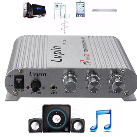 - 12V-18V 200W Home Mini Audio Amplifier - HiFi Radio Car Audio Stereo Super Bass Speaker Booster w/Jack for MP3/MP4/CD Player - For Car/Motorbike Connection Home Theatre