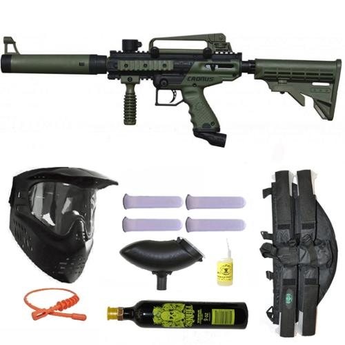 Tippmann Cronus Tactical Paintball Gun 3Skull 4+1 9oz Mega Set by