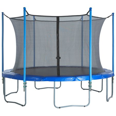 Trampoline Enclosure Set, to fit 8 FT. Round Frames, for 3 or 6 W-Shaped Legs -Set Includes: Net, Poles & Hardware Only - image 2 of 6