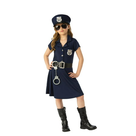 Girl Police Officer Halloween Costume - Halloween Girl Faces