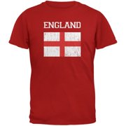 World Cup Distressed Flag England Red Youth T-Shirt - Youth Large