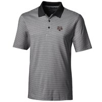 Texas A&M Aggies Cutter & Buck Big & Tall Forge Tonal Stripe Polo - Black