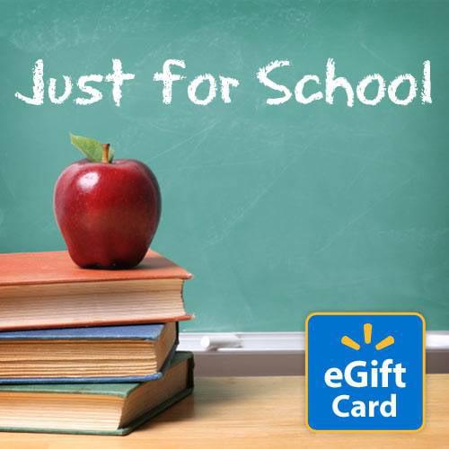 Just For School Walmart eGift Card