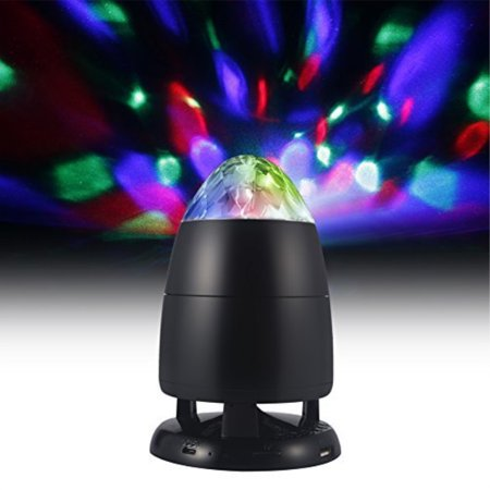 Funkysky Party Portable Bluetooth Wireless Speaker With Multi-Colored LED Disco Ball Light Show, Perfect For Party Time - Portable Party Lights