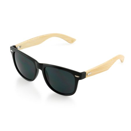 Gearonic  Fashion Vintage Wooden Frame Wood Vintage Sunglasses (Wood Sunglasses Canada)
