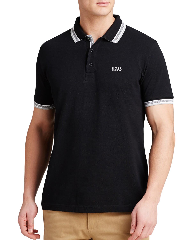 BOSS Green Men's Paddy Polo 10102943 Black Polo Shirt MD