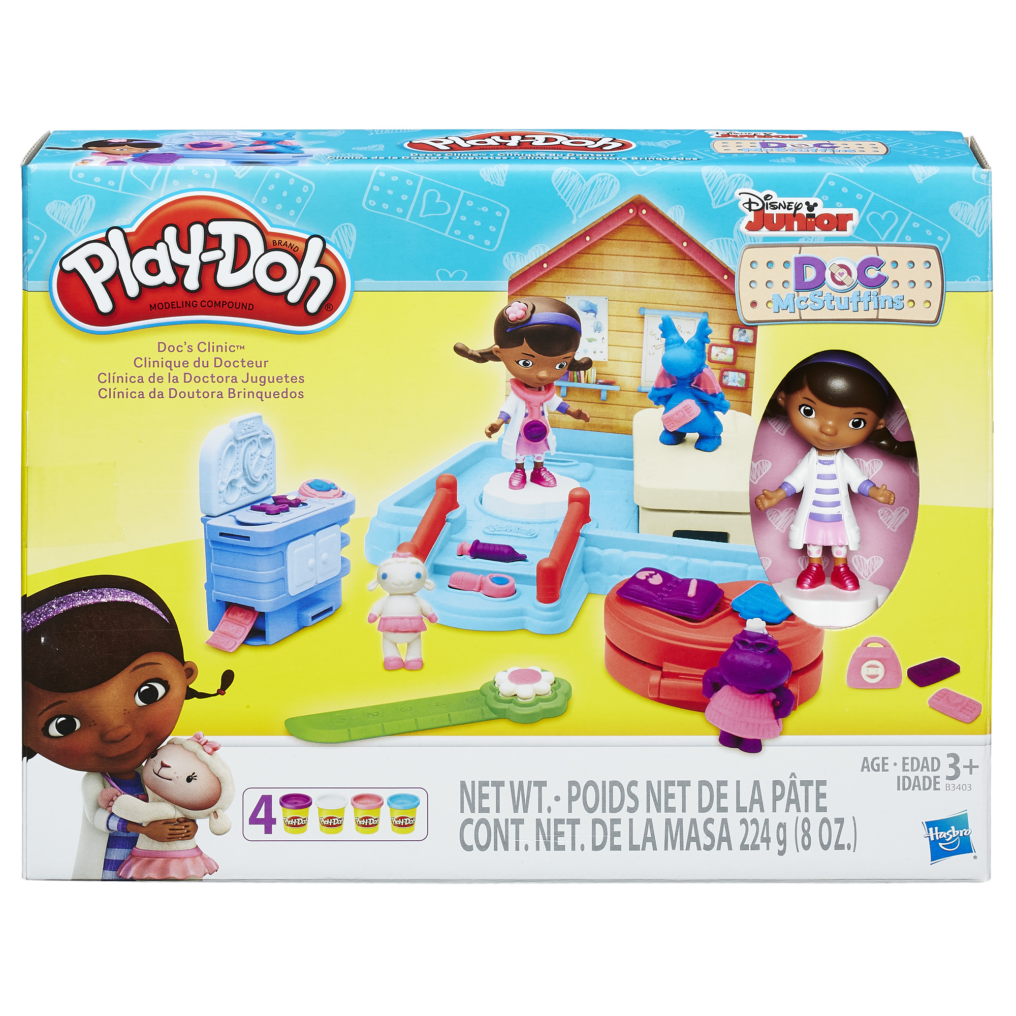 hasbro play-doh disney junior doc's clinic doc mcstuffins modeling compound age 3+