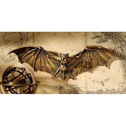 Design Toscano Cyber Bat Steampunk Wall D cor