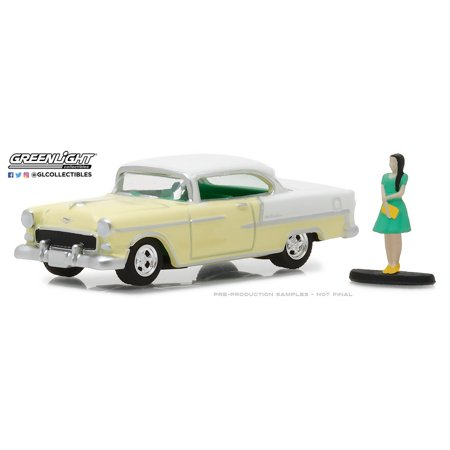 Greenlight 1:64 The Hobby Shop Series 3 1955 Chevrolet Bel Air with Woman (Bel Air Stores)