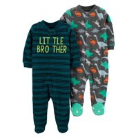 Child of Mine by Carter's Microfleece Sleep N Play Sleepers, 2pk (Baby Boys)