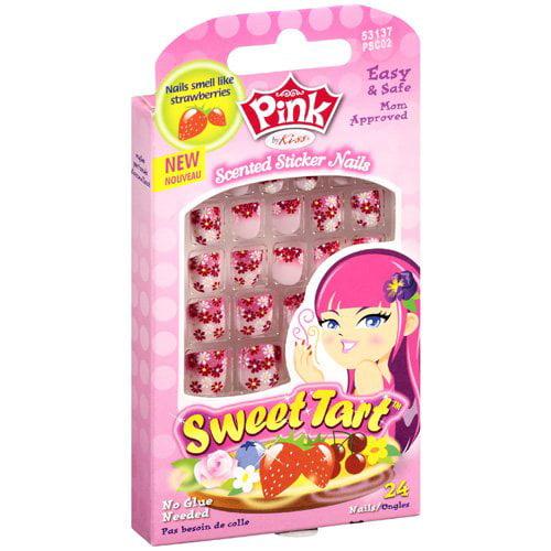 Kiss PSC02 Pink Sticker Nails